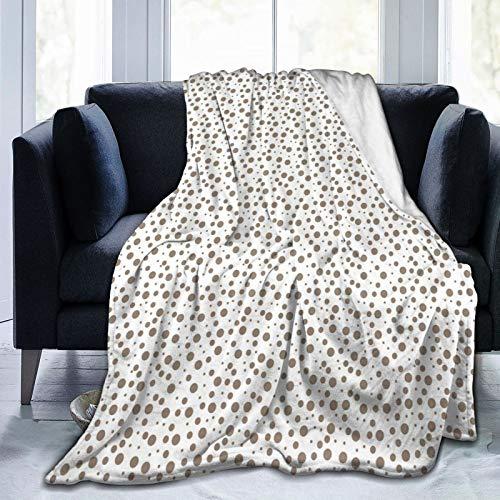 SURERUIM Manta De Tiro De Lana Suave,Impresión de Manchas Grandes de Gotas pequeñas Marrones,Home Hotel Sofá Cama Sofá Mantas para Parejas Niños Adultos,75x125cm
