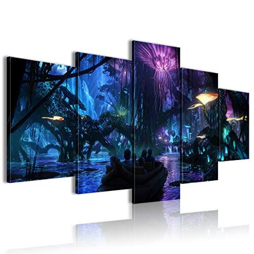 CCBRA HD Printed Painting 5 PanelWalt Disney Imagineering in collaboration with filmmaker James Cameron and Lightstorm Entertainment 100x50cm unFramed