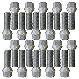 20 Tornillo cónico M14x1,5 40mm apto para Mercedes A B C CLA CLK CLS E GL GLA GLK M R S SL SLK SLR SLS Spri