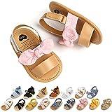 Baby Girls Sandals Wedding Dress Mary Jane Flats Bowknot Princess Infant Shoes Soft Summer Newborn Crib Shoes First Walker Prewalker Shoes