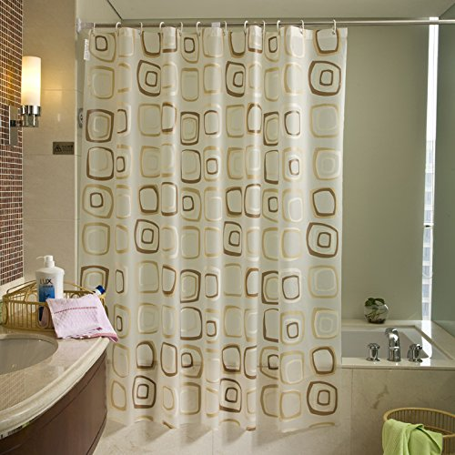 Eforcurtain Small Stall Size Geometric Pattern Shower Curtain Liner 36 X 72 Inches Waterproof 15
