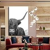 KWzEQ Animal Print Simple Wallpaper Lienzo Pintura Sala de Estar decoración del hogar Pintura al óleo Arte Moderno,Pintura sin Marco,80x120cm