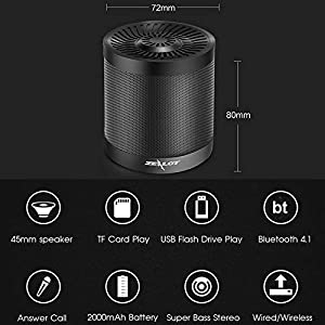 Bluetooth Speaker Wireless Portable Speaker Loud Stereo Speaker Mini Speaker Support TF Card Aux Input MP3 Player Compatible with Android iOS Mobile Phones Computer PC for Home Outdoor Party Travel