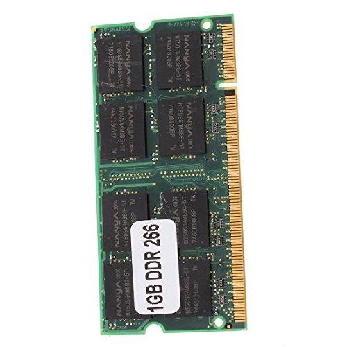 Naliovker 1GB Memoria RAM Memoria PC2100 DDR CL2.5 DIMM 266MHz 200 Pines...
