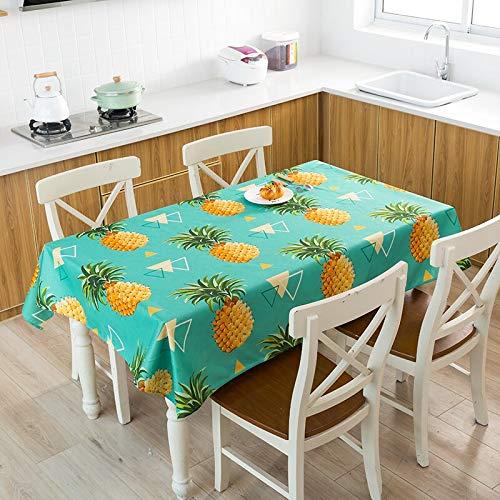 XXDD Cactus Banana piña Mantel de Lino Decorativo Impermeable Grueso Rectangular Boda Mesa de Comedor Cubierta té Mantel A8 135x135cm