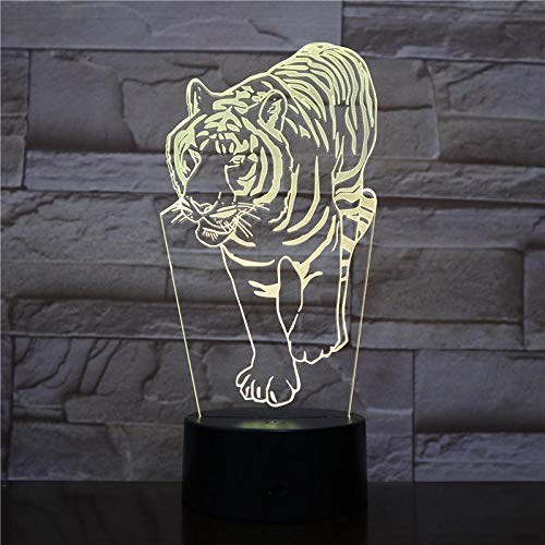 3D NIGHT LIGHT 3D Night Lights Tiger Animal with 7 Colors Light for Home Decoration Lamp Amazing Visualization Optical Bedroom Decoration Light Birthday gift for children