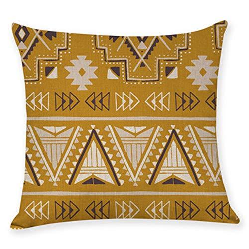 YONGYONG Taie D'oreiller De Sofa De Maison De Câlin De Toile D'impression De Modèle Ethnique De Style Populaire Par (Color : F)