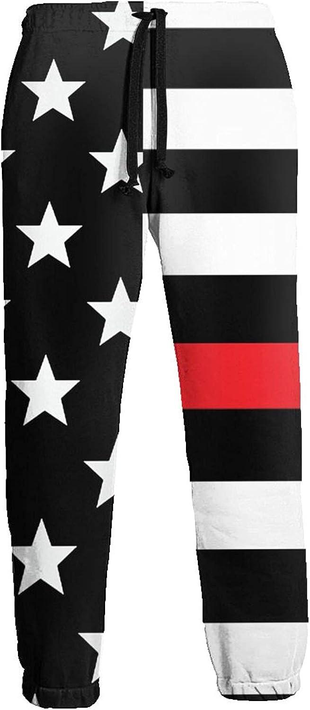 Mens Elastic Waist Sweatpants American Flag Joggers Sweatpants for Gym Training Sport Pants