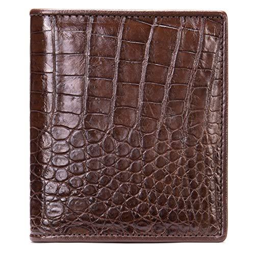 Herren-Portemonnaie aus echtem Krokodilleder mit eleganter Geschenkbox., braun (Braun) - NCZ-055-Brown