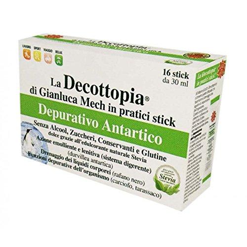 Decottopia Depurativo Antartico Con Stevia Integratore 16 Stick Da 30 ml