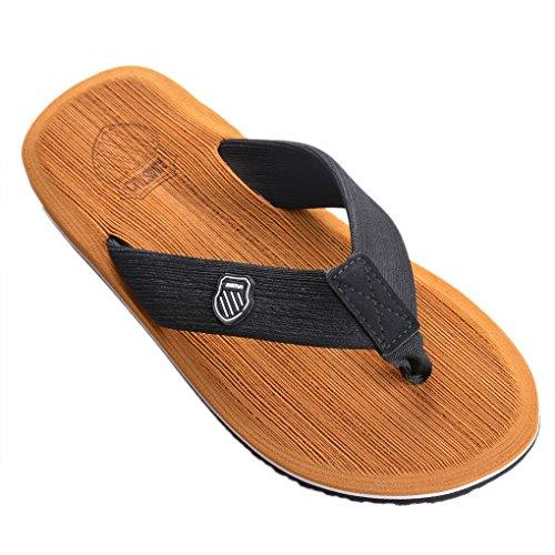 Vertvie Herren Sommer Schuhe Strand Sandalen Indoor Outdoor Slipper Zehentrenner Pantoletten Flip Flop, Gelb, 39 EU