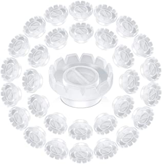 100 Pack Eyelashes Extension Volume Lashes Fan Blossom Cups, Quick Blossom Cup, Anti-Spill Glue Holder and Lash Organizer ...