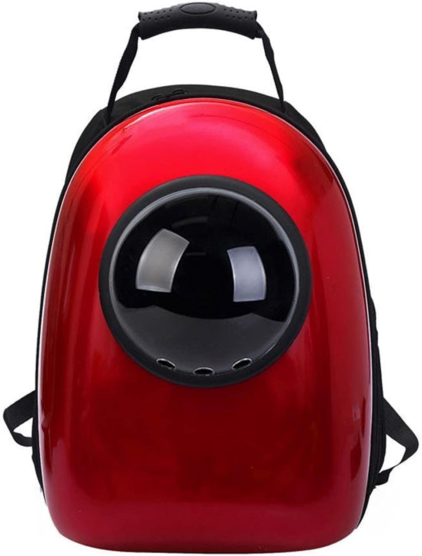 Aoligei Cat Double Shoulder Bag Fashion pet Bag Dog Space Cabin Backpack Food Grade pc+ Oxford Fabric 43  30  22cm