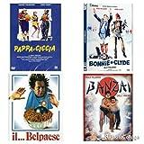 Paolo Villaggio collection ( 4 film Dvd - Pappa e ciccia-Bonnie & Clyde - il ... belpaese - Banzai)