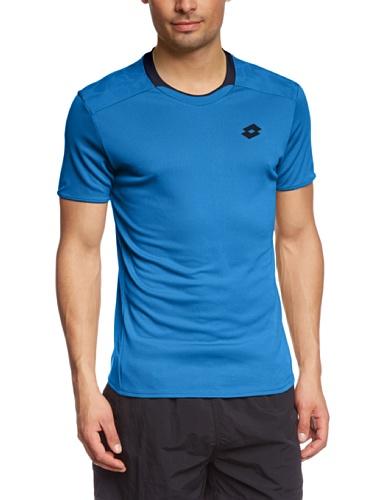 Lotto Sport Herren T-Shirt Kurzarm 1000, Blue Moon/Deep Navy, XXL, Q8684