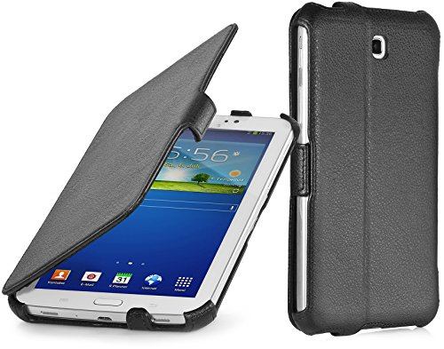 StilGut UltraSlim Case, Custodia con Funzione di Supporto per Samsung Galaxy Tab 3 Lite 7, Nero