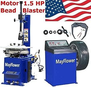 Mayflower - 1.5 HP Tire Changer Wheel Changers Machine Combo Balancer Rim Clamp 950 680 Bead Blaster / 1 Year Full Warranty