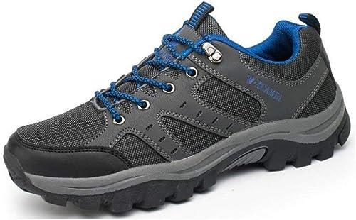 Hhor Chaussures de Marche, Chaussures Hommes - Chaussures légères, Chaussures à Doubleure en Mesh, Talonnette et Capuchons - pour la randonnée, la randonnée, Les Voyages cet été, D, 43