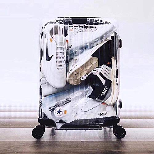 XIANGSHAN Trolley Case-transparent PC Trolley Case Large Capacity Personality Universal Wheel Luggage Fireproof Anti-theft Luggage Box/28 Inch/53 * 38 * 24cm
