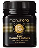 Manukora UMF 15+/MGO 500+ Raw Manuka Honey (250g/8.8oz) Authentic Non-GMO New Zealand Honey, UMF & MGO Certified, Traceable from Hive to Hand