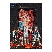 現代のファッション抽象的なサッカースターポスターとプリントキャンバス絵画壁アートルームの家の居間の装飾 (Color : B, Size (Inch) : 30X45CM)