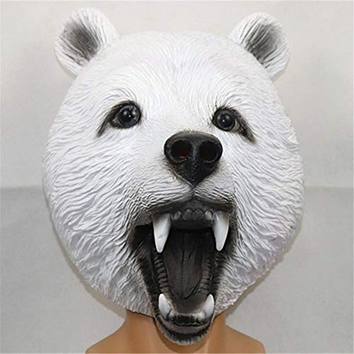 Quan Jin Máscara De Halloween Disfraces Divertidos Juego De rol De Imitación Mundo Adulto 3D Máscara De Animales Fiesta De Baile Fiesta De Carnaval Maquillaje Horror Accesorios De Goma,Blanco