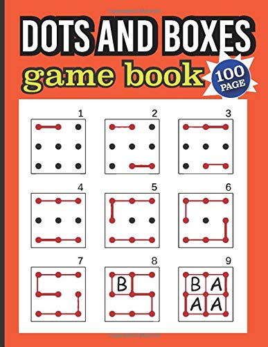 dots and boxes game book: Pigs in a Pen Blank Pages the size one 9x9 two 6x6 This is a game for two players.