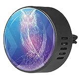 Josid, 2 pezzi di accessori per auto a forma di gufo astratto, deodorante per auto, diffusore per aromaterapia, clip da 40 mm