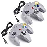 iNNEXT 2X N64 USB Retro 64-Bit Controller Wired PC Gamepad Klassischen Joypad Joystick Für MAC...