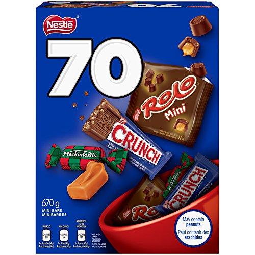 NESTLÉ Mini Halloween Assorted Chocolate & Candy - ROLO, Crunch, MACKINTOSH'S - 670g (Pack of 70 Mini Bars)