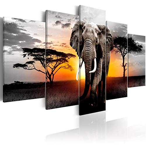 Large African Landscape Painting Elephant Wall Art...