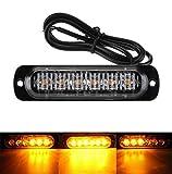 Lezed lumières stroboscopiques d'urgence pour camion LED Feu Stroboscopique Lampe Urgence Feux Clignotant Strobe pour Voiture Camion Remorque Montage en surface, DC12~24V, 6500k, 18W, IPX-4