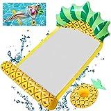 OBOVO Hamaca inflable para piscina, cama de piña, silla de salón, ligera, portátil, con soporte para bebidas, para playa, inflables, piscina, juegos de fiesta, 1 unidad