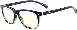 Computer Glasses Blue Light Blocking Glasses[Better Sleep]Shileded Anti Blue Light Glasses,Anti Glare Reading/Gaming Glasses for Men and Women(Stripe)