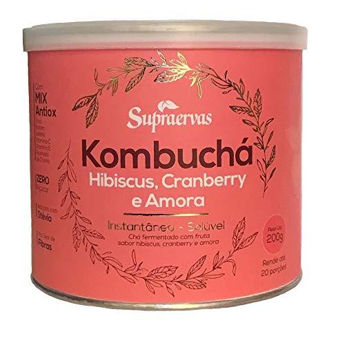 Kombuchá Hibiscus, Cranberry e Amora 200 g Supra Ervas
