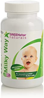 Milky Way Natural Breastfeeding Supplement for Lactation Support - Increase Breast Milk Supply & Flow for Nursing Mothers - Advanced Herbal Formula with Fenugreek (90)