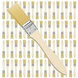 Kurtzy Set Brochas Pintor 2,54 cm (Pack de 72) Brocha Plana Pintura Mango de Madera Profesional para Pintura, Tintes, Barnices, Pegamentos y Bricolaje en el Hogar - Pack de Brochas para Pintar