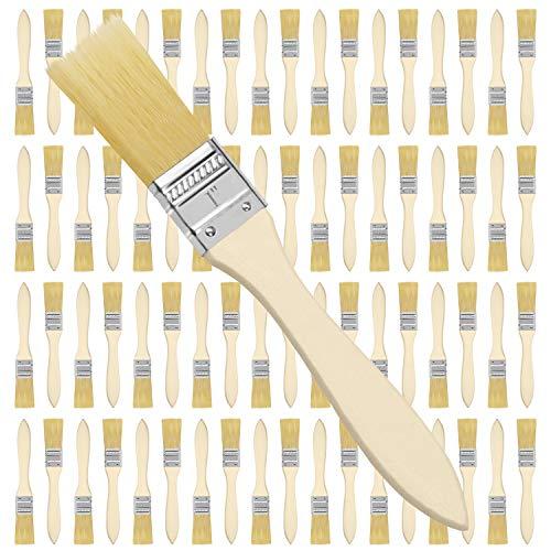 Kurtzy Pinselset (72 STK) - 2,54 cm Profi Malerpinsel mit Holzgriff, Pinsel Set für Farben, Lack, Beizen, Klebstoffe - Flachpinsel, Lasurpinsel, Lackpinsel für Malerbedarf, Streichen, DIY