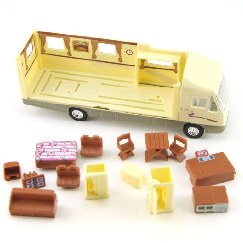 Toy Motorhome, Changeable Interior, Motorized Pull Back Action, 7.5-inch, Recreational Vehicle RV