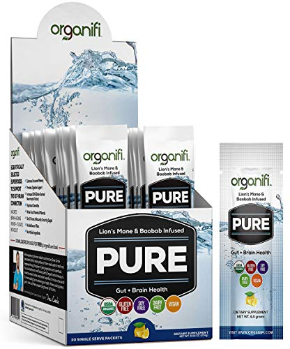 Organifi: Pure Smart Packs - Organic Brain Boost Superfood Solution - 30 Packets -...