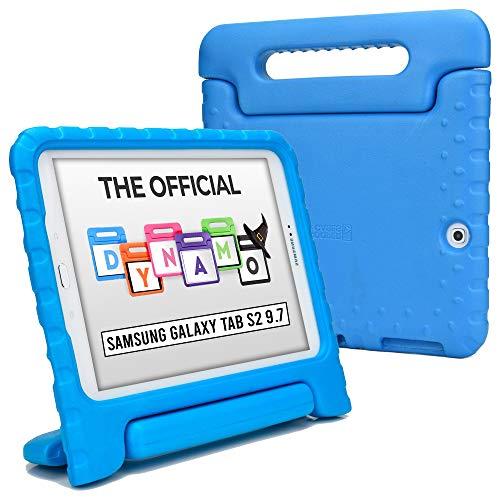 Cooper Dynamo [Funda Resistente] para Samsung Tab S2 9.7   Carcasa Tableta, Soporte, manija, Protector Pantalla (BLU)