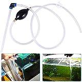 JPYH Cambiador de Agua para Pecera Manual, Cambiador de Agua para Pecera con Airbag y Controlador de Flujo de Agua,Conveniente y fcil de Operar