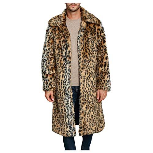 Aoogo Männer Warme Dicke Mantel Jacke Kunstpelz Outwear Strickjacke Mantel Mantel Herren Lang Pelzmantel Kunst Felljacke Winterjacke Parka Kunstpelz Lange Jacke