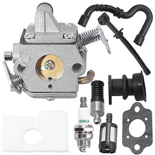 Zreneyfex Carburetor with Air Filter Tune Up Kit Replacemet for Stihl 017 018 MS180 MS170 MS170C MS180C Chainsaw C1Q-S57A C1Q-S57B 1130-120-0603