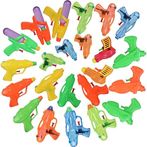 TOYANDONA 24 Piezas Mini Pistolas de Agua Interactivas para Niños Juguetes de Verano Pistolas de Agua Juguetes de Tirador para Piscina Playa