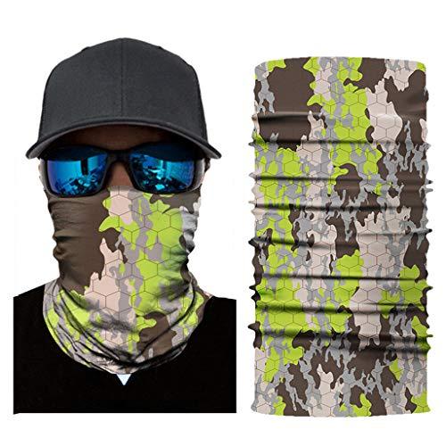 JSxhisxnuid Multifunctionele sjaal voor dames en heren, bedrukte slangsjaal van microvezel, bivakmuts voor motorfiets, fiets en skiën C