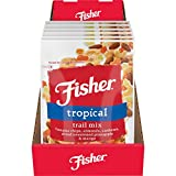 FISHER Snack Tropical Trail Mix, 3.5 oz (Pack of 6) Banana Chips, Almonds, Cashews, Dried ...