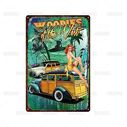 Ami0707 Tin sign wall decoration Pin Up Girl Tin Sign Plaque Metal Vintage Sexy Metal Sign Wall Decor for Bar Pub Club Man Cave Retro Signs Metal Painting 20x30cm TH2026