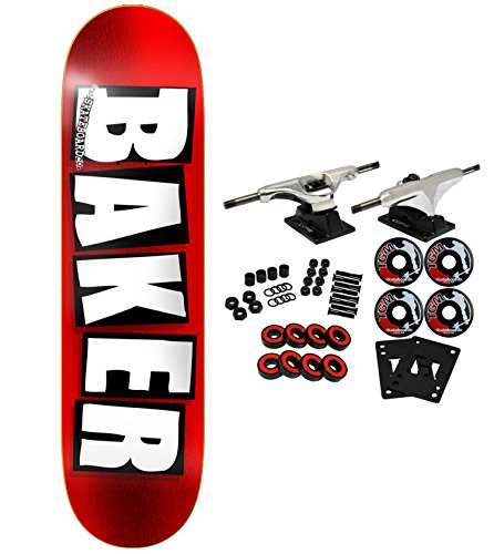 Baker Skateboard, komplett Marke Logo Folie 20,3cm