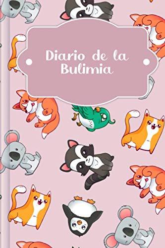 Diario de la Bulimia: Para rellenar y marcar con el diario de nutrición terapéutica, desafío de amor propio de 30 días, rastreador de habilidades, ... de ánimo diario | Motivo: Reino animal rosa